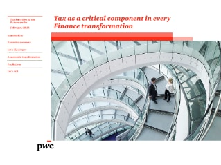 Tax as a critical component in every Finance transformation