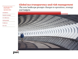 Global tax transparency and risk management